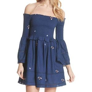 Free people Counting Daisies Off-The-Shouldr dress